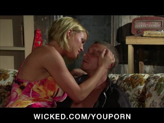 Big-tit Blonde Slut Pornstar Krissy Lynn fucked in hot threesome