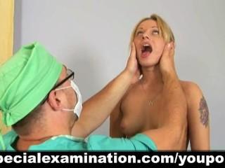 Busty girl passes medical exam - 3