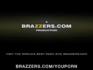Big tit brunette MILF actress deepthroats & fucks dick backstage