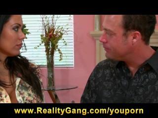 Big-Tit Latina brunette MILF Pornstar Sienna West fucks hard dick
