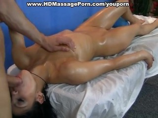 Massage bj together with piping hot fucking