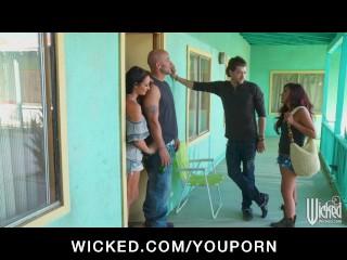 Busty Brunette Pornstar Alektra Blue ass-fucked anal by hard cock