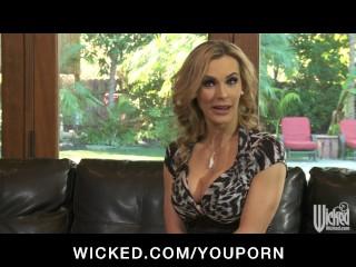 Horny big-tit blonde MILF slut fucked hard by big dick to orgasm