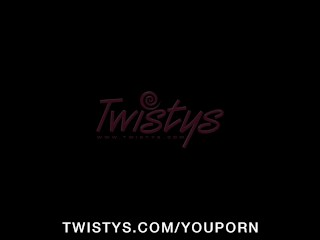 Busty blonde slut in heels finger-fucks wet tight pussy to orgasm