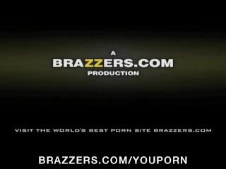 Big-tit blonde pornstar has an anal DP threesome in a porn cinema