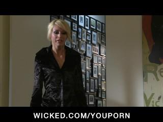 Horny blonde wife slut has tight wet pussy fucked hard by big-dick