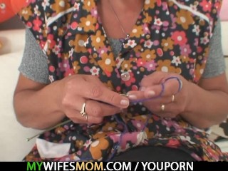 Granny seduces her daughter's BF