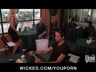 Horny big-tit blonde MILF slut Stormy Daniels fucks big-dick hard