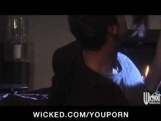 Hot & horny redhead slut takes a big hard-dick in wet tight pussy
