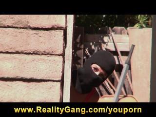 HOT young burglar Hayden Winters is caught and fucked by big-dick