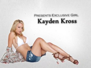 Sexy blonde wife Kayden kross rides hard cock to big orgasm