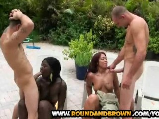 Bubble butt honeys gets the pounding they deserve