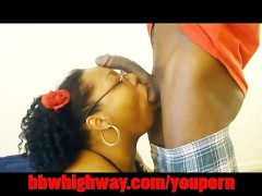 Picture ORAL FROM AMATEUR EBONY BIG BUTT BBW Young G...