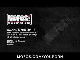 Flirty blond GF Katie King shows off her body before masturbating