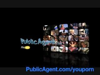 PublicAgent Blonde lesbian takes cock for money