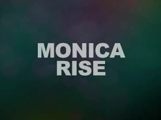 Teen Monica sucking a big cock