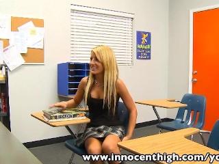 InnocentHigh Bigtits blonde schoolgirl Holly Taylor fucks prof