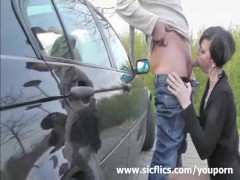 Picture Public fist fucking and cock sucking brunett...