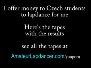 Czech college girl shakes booty and lapdance