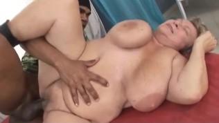 Big Black Cock Creampies Grandma with Huge Tits