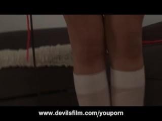 Kinky Teen Schoolgirl Squirting Double Penetration