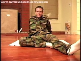 Sexy Military Boy Stripping And Jerking Off