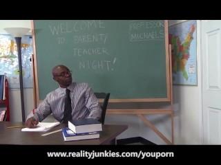 Slutty Teacher Anal Cuckold for Big Tits MILF
