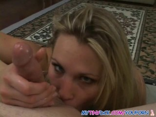 Stunning blonde works that cock like a pro