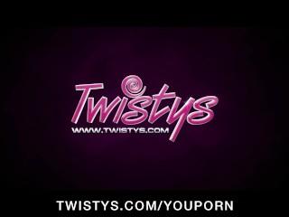 Busty Latina pornstar Anissa Kate has an intense solo orgasm