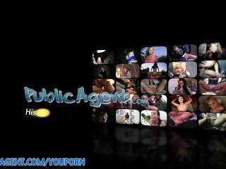 PublicAgent HD Sexy Blonde porn fan Eva rides me on the sofa