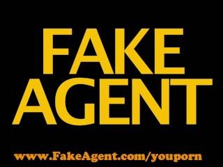 FakeAgent HD Hot mature amateur takes mouthful of spunk