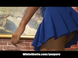 Ebony Cheerleader Loves Big Black Cock After the Game
