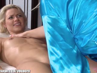 Attractive Blonde Babes Lesbian Massage