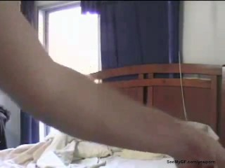 Real girlfriend gets fucked at home by lover