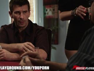 Big-booty blonde waitress cheats on her man