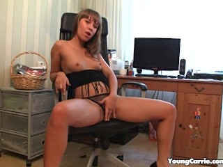Fine Assed Redhead Bares It All In The Office
