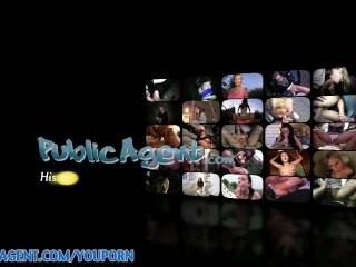 PublicAgent HD Hot blonde rides my like a rodeo cowgirl on the sofa
