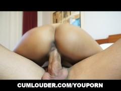 Picture Latina Rachel Woods rides a massive Dick dee...