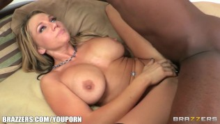 Busty blond MILF Nikki Sexx takes the biggest dick she's ever had