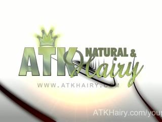 Young Hairy girl Sadie Mathews spreads her hairy bush