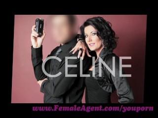FemaleAgent. Brunette on blonde MILF casting