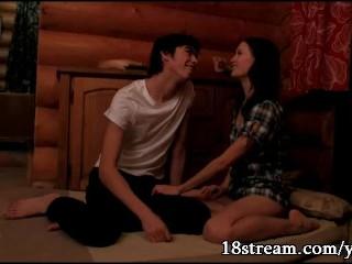 Teen couple having sex