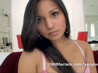 Asian pornstar Lana Violet hungry for a cum facial