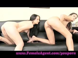 FemaleAgent. Shy girl loves anal creampies