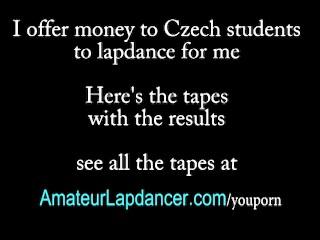 Superhot striptease and lapdance by czech blonde