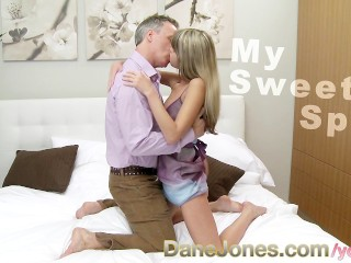 DaneJones Tiny tight skinny teen orgasm with deep anal sex
