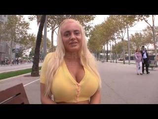 Jordan Pryce wants a big cock between her amazing big boobs