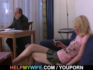 He fucks his sexy wife for money