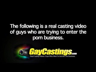 GayCastings hairless erotic dancer gets smooth firm ass loaded up