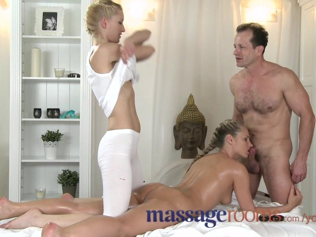 Blonde Massage Table Blowjob